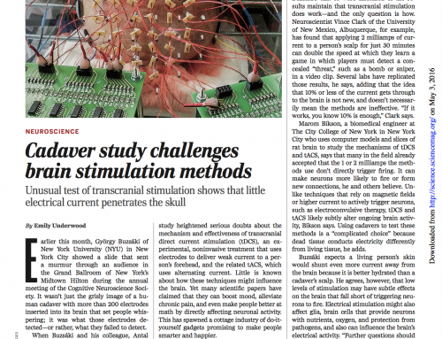 Cadaver study challenges brain stimulation methods