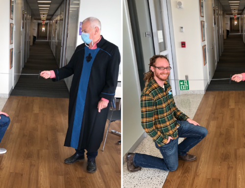 Dan Levenstein and David Tingley PhD-knighted